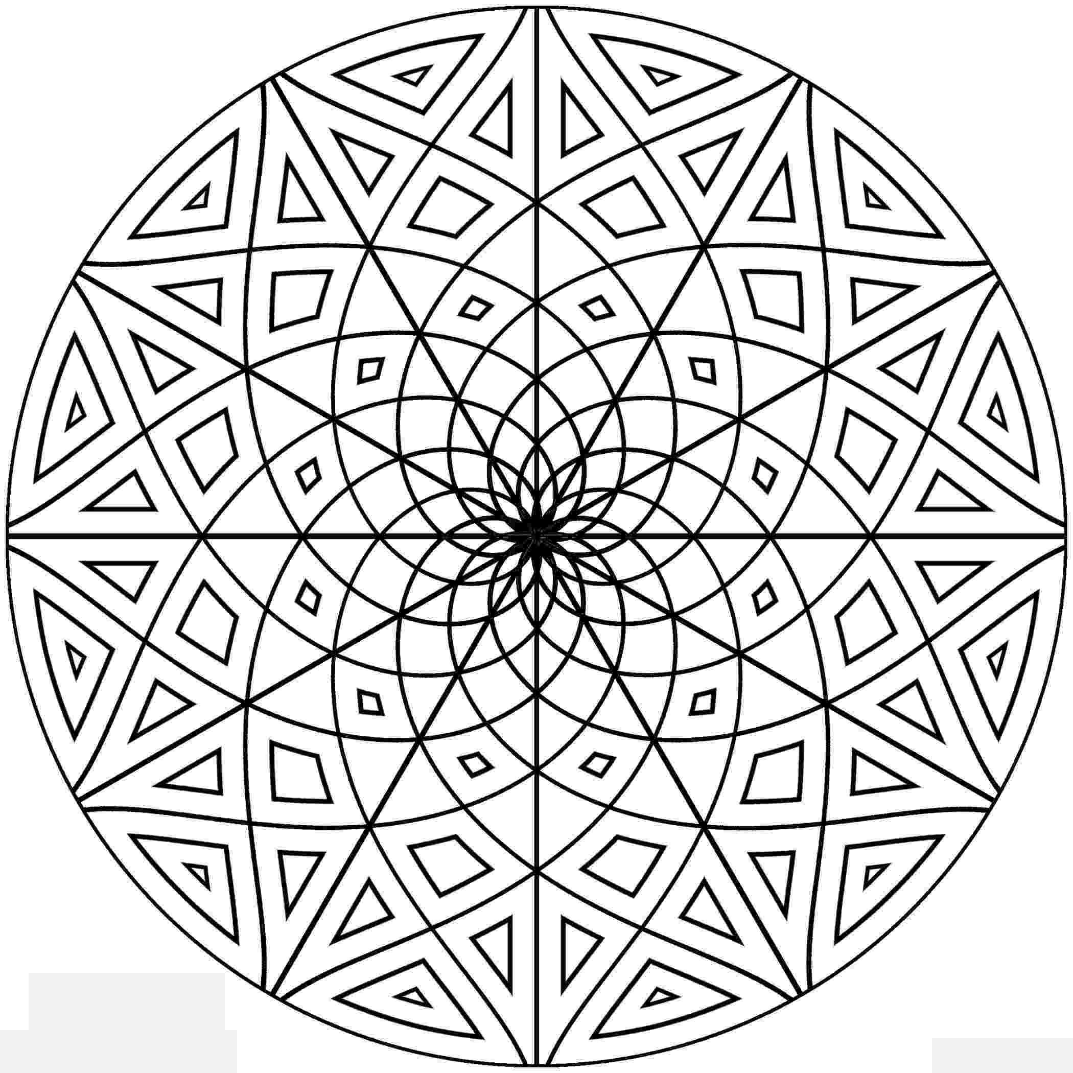 geometric pictures to color free printable geometric coloring pages for adults color pictures to geometric