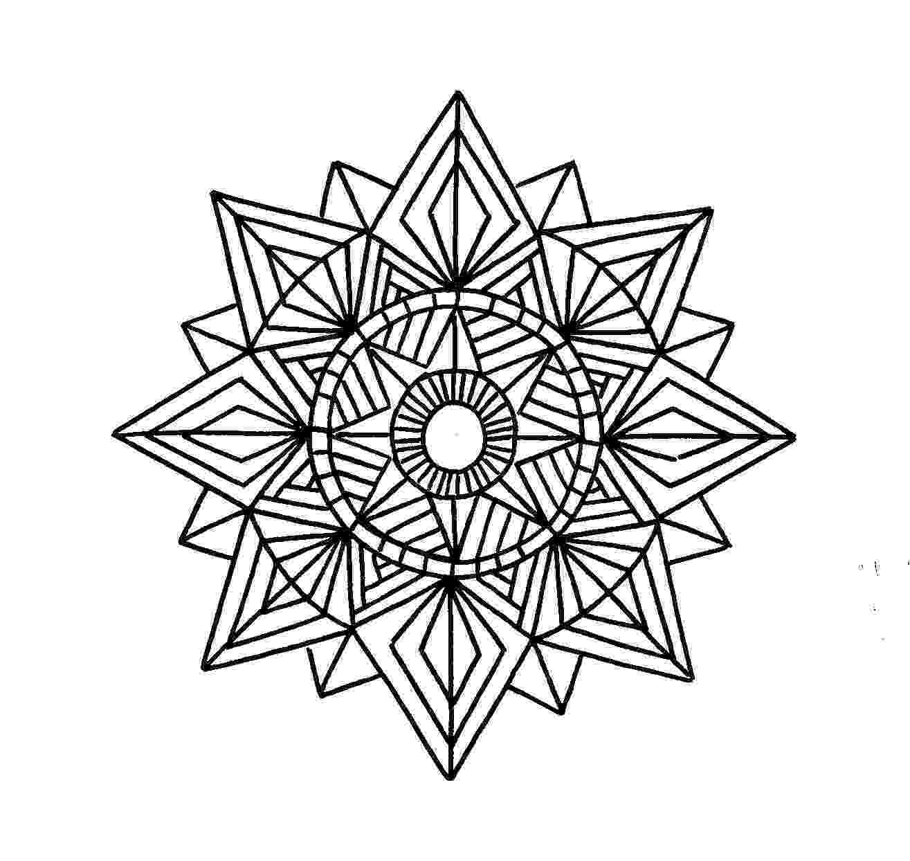 geometric pictures to color free printable geometric coloring pages for kids color to geometric pictures