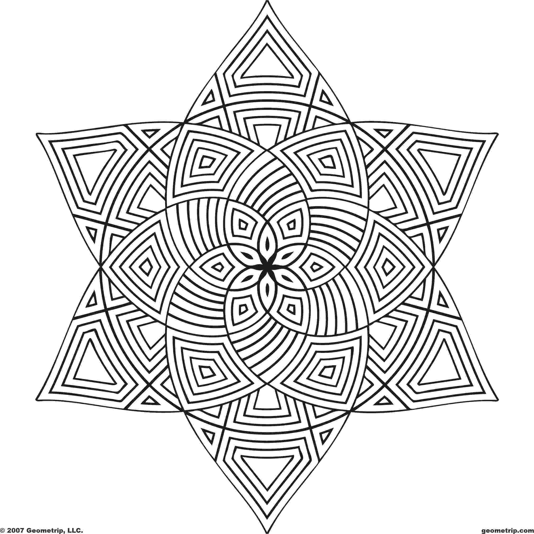 geometric pictures to color geometric design coloring pages to download and print for free pictures to geometric color