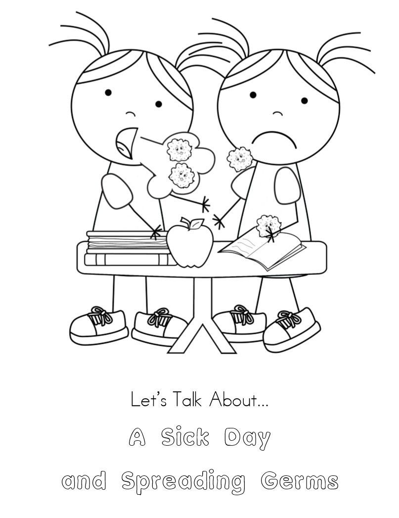 germ coloring sheet free printable coloring page to teach kids about hygiene coloring germ sheet