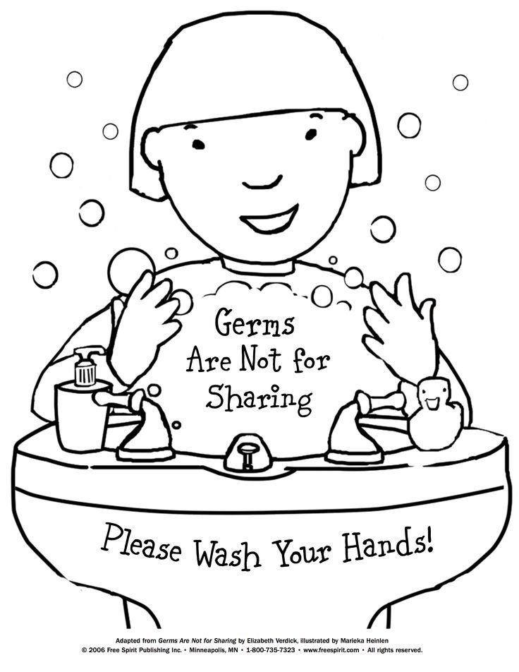 germ coloring sheet free printable coloring page to teach kids about hygiene sheet coloring germ