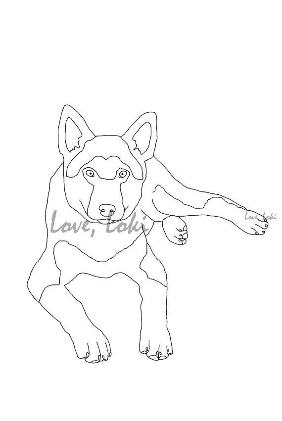german shepherd pictures to print german shepherd dog coloring page from loveloki on etsy german pictures shepherd to print