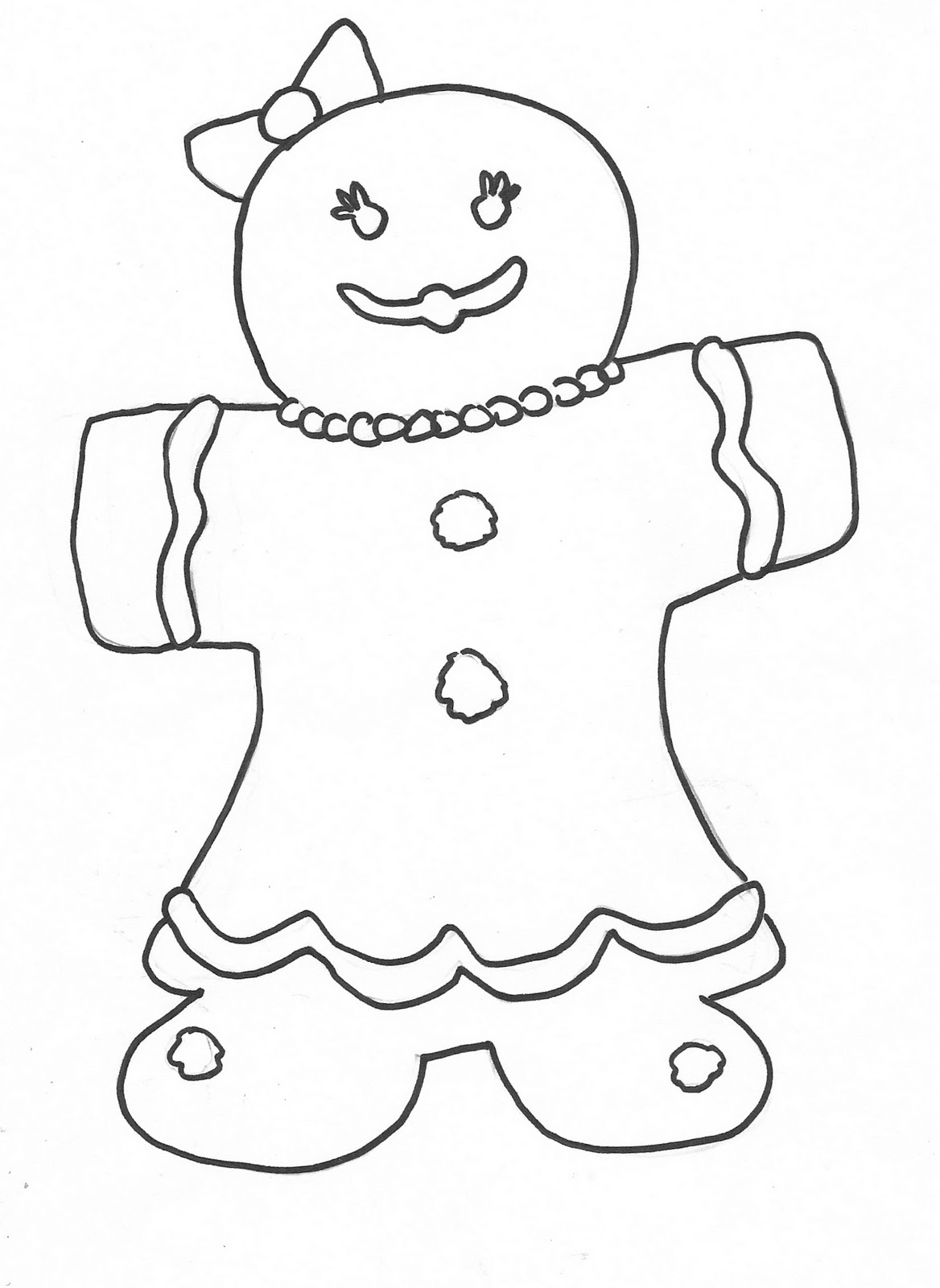 gingerbread colouring pages squiggle bop pages gingerbread colouring