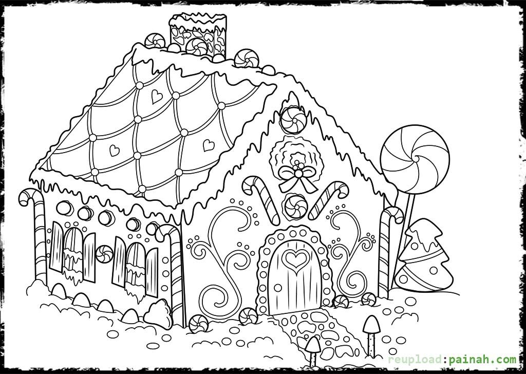 gingerbread house coloring sheet printable gingerbread house coloring pages for kids house sheet gingerbread coloring 1 1