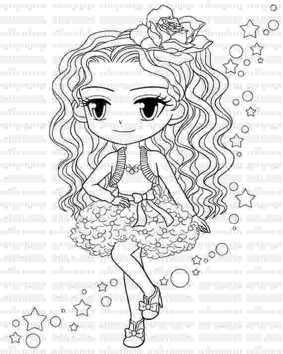 girl coloring books digital stamp star pretty girl coloring page big eyed girl books girl coloring