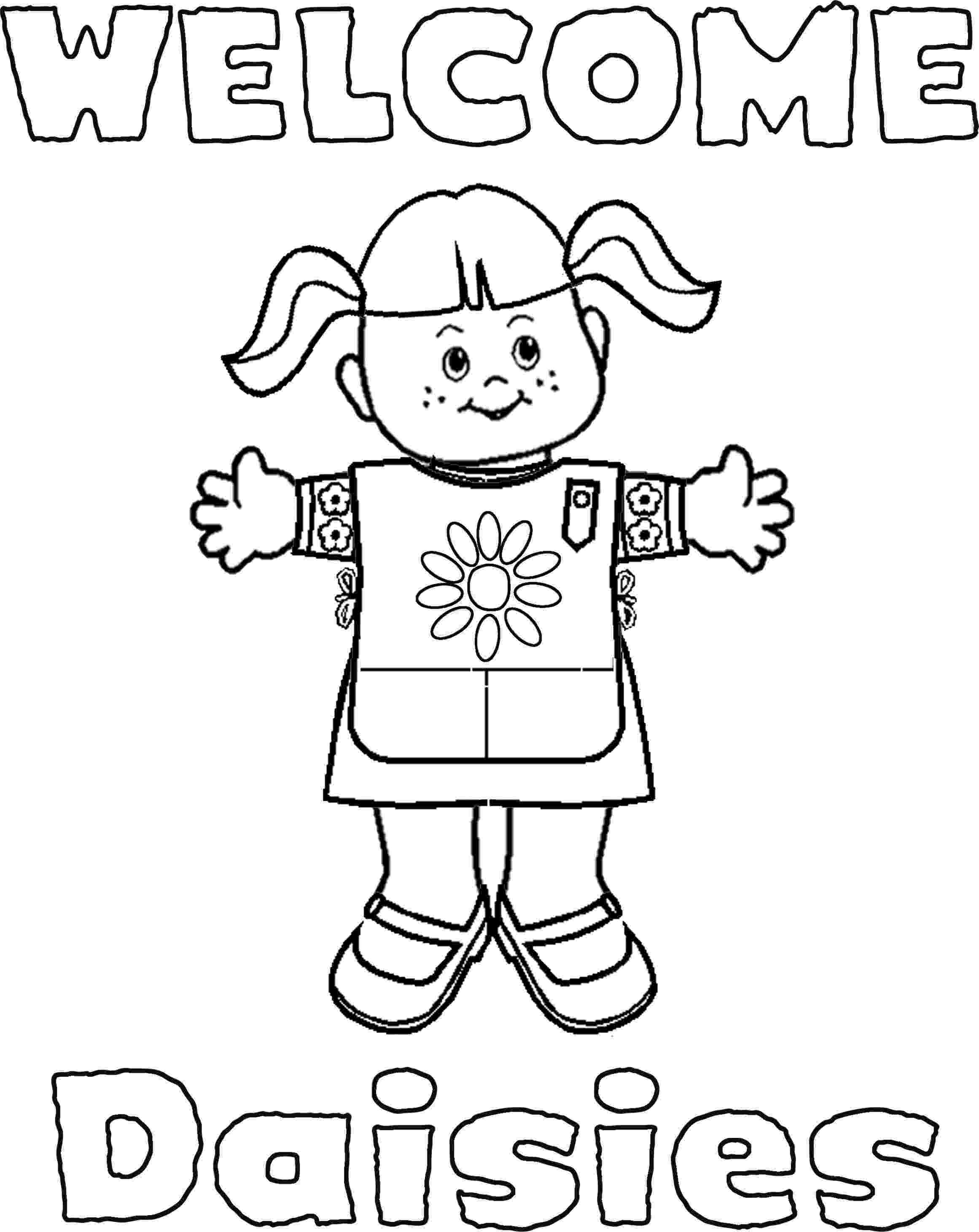 girl scout coloring pages for daisies free printable daisy scout coloring pages high quality girl scout for coloring pages daisies