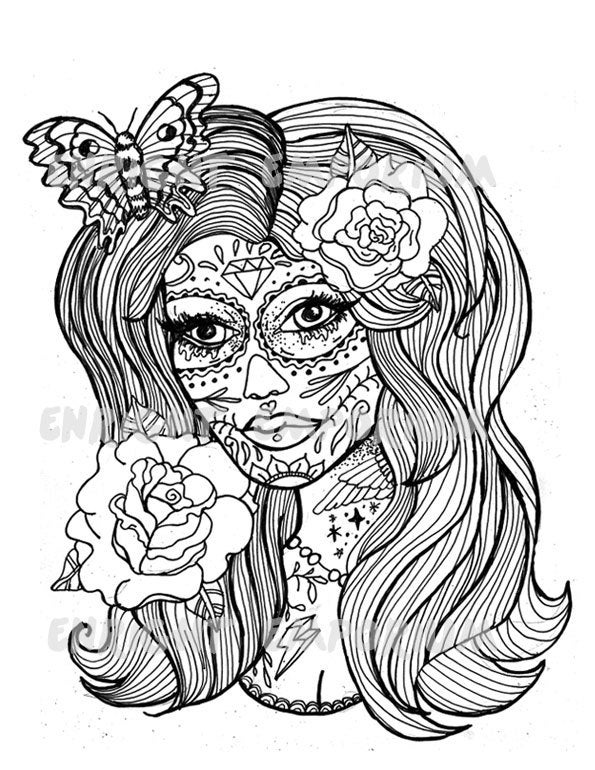 girl skull coloring pages draw a girly skull step by step drawing sheets added by pages coloring skull girl