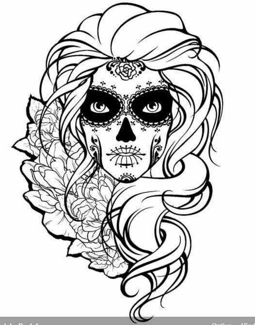 girl skull coloring pages girl skulls free download on clipartmag coloring girl skull pages