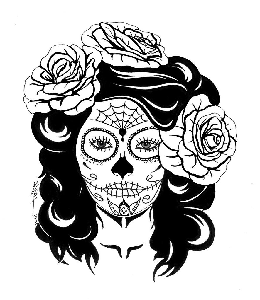 girl skull coloring pages girl sugar skull coloring pages coloring pages for kids pages coloring girl skull