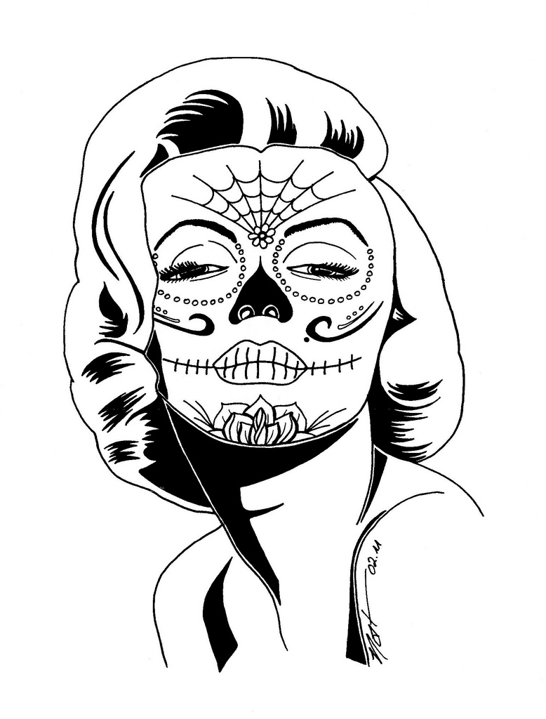 girl skull coloring pages items similar to sugar skull girl day of the dead coloring skull girl coloring pages