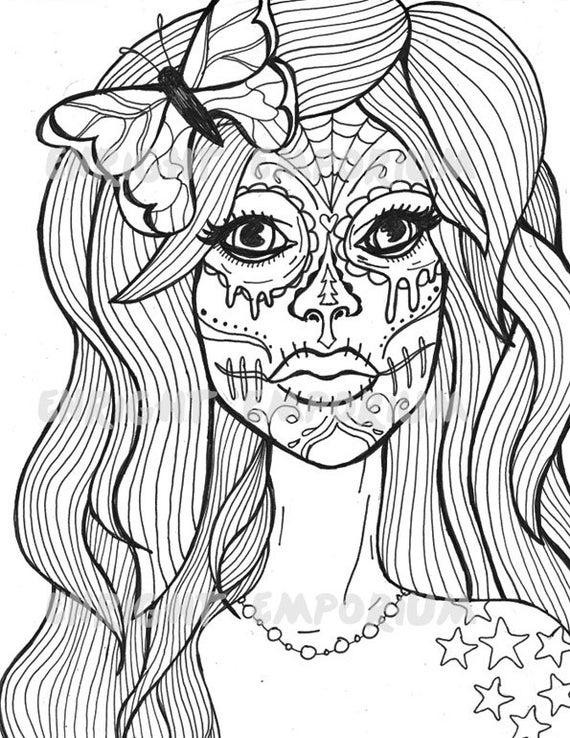 girl skull coloring pages printable skulls coloring pages for kids cool2bkids skull coloring pages girl
