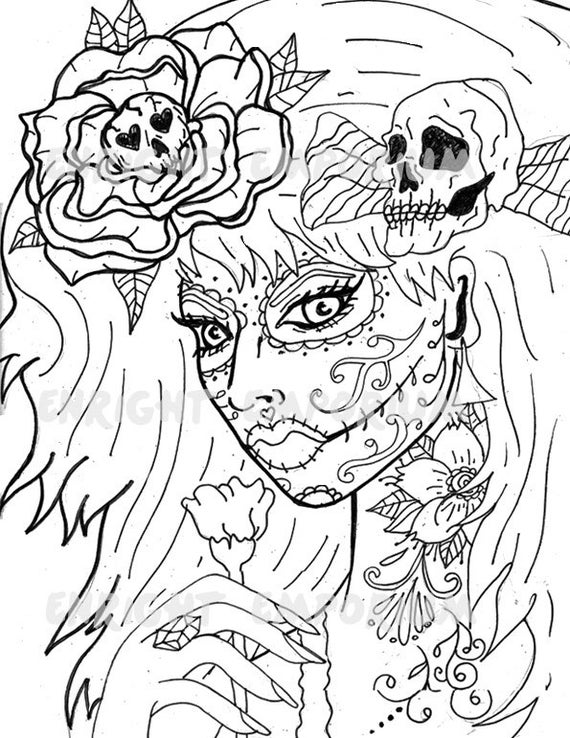 girl skull coloring pages skeleton girl urban threads unique and awesome girl skull pages coloring