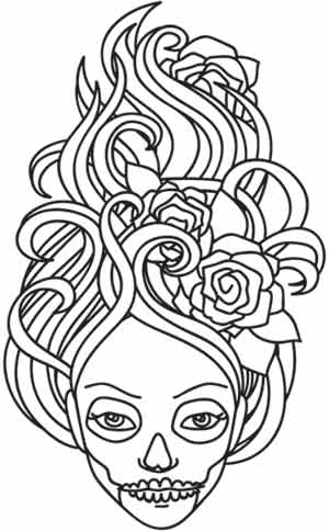 girl skull coloring pages sugar skull day of the dead girl coloring page download pages skull coloring girl