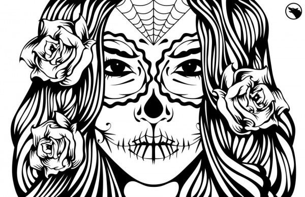 girl skull coloring pages yucca flats nm wenchkin39s coloring pages skele pony skull pages coloring girl