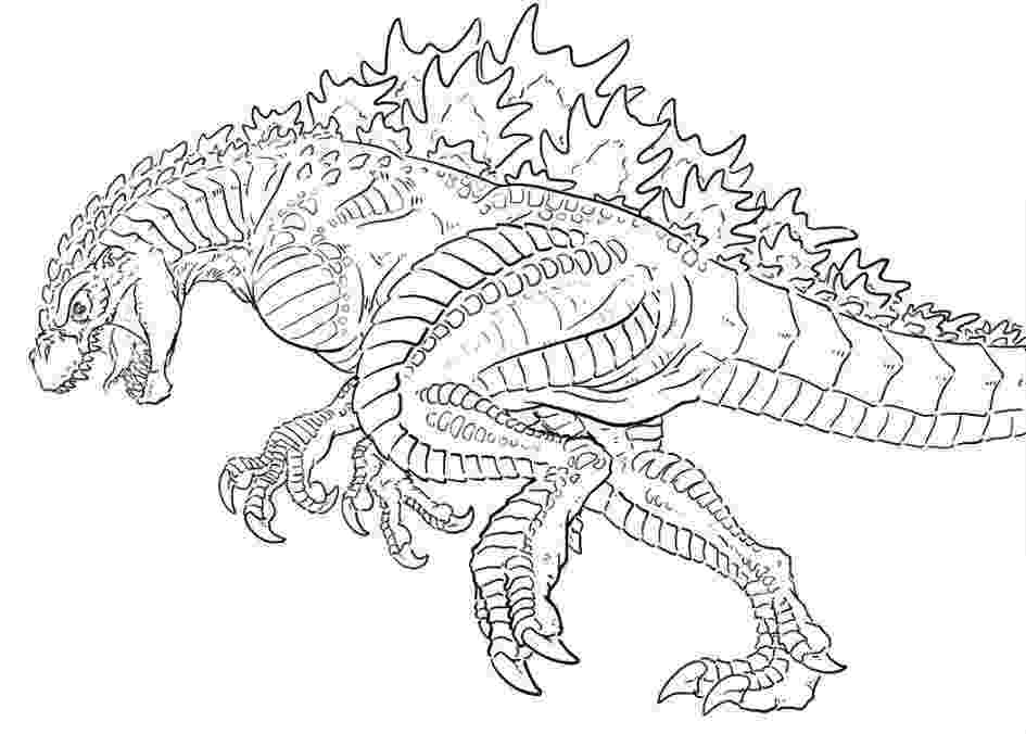 godzilla printable coloring pages ultimate space godzilla coloring page free printable printable coloring godzilla pages