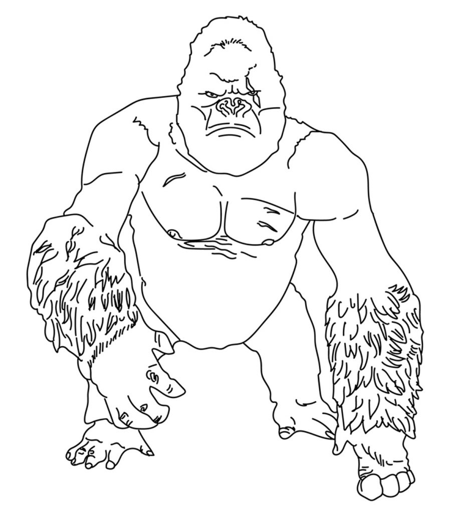 gorilla coloring pages gorilla coloring pages to kids coloring gorilla pages