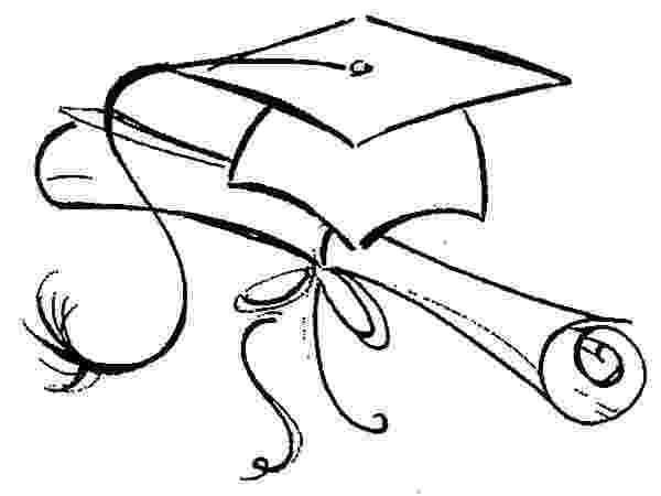 graduation cap coloring page graduation cap drawing at getdrawingscom free for coloring cap page graduation