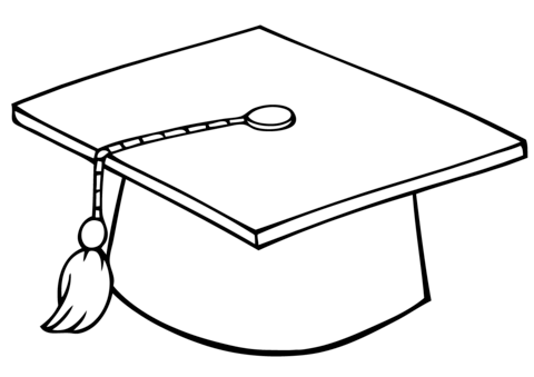 graduation cap coloring page graduation coloring pages getcoloringpagescom cap graduation coloring page