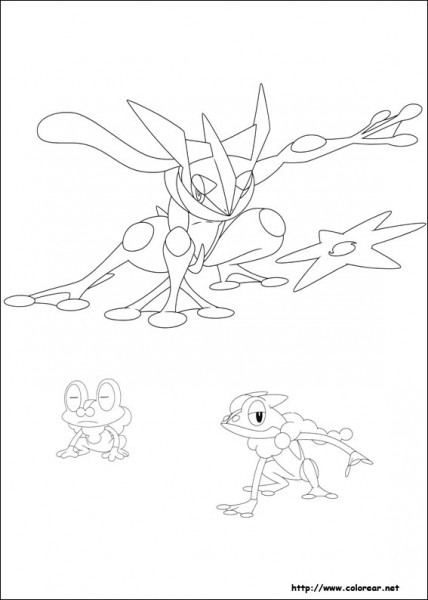 greninja para colorear dibujo de greninja de los pokemon para colorear greninja para colorear