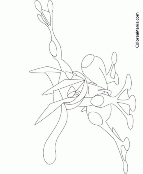 greninja para colorear dibujos de greninja ash para colorear pintar e imprimir para greninja colorear