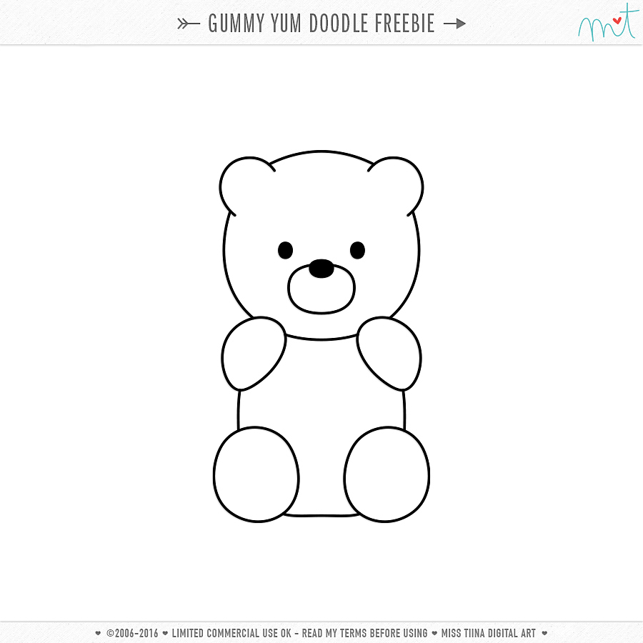 gummy bear sketch free cu gummy yum vectors doodle bear sketch gummy