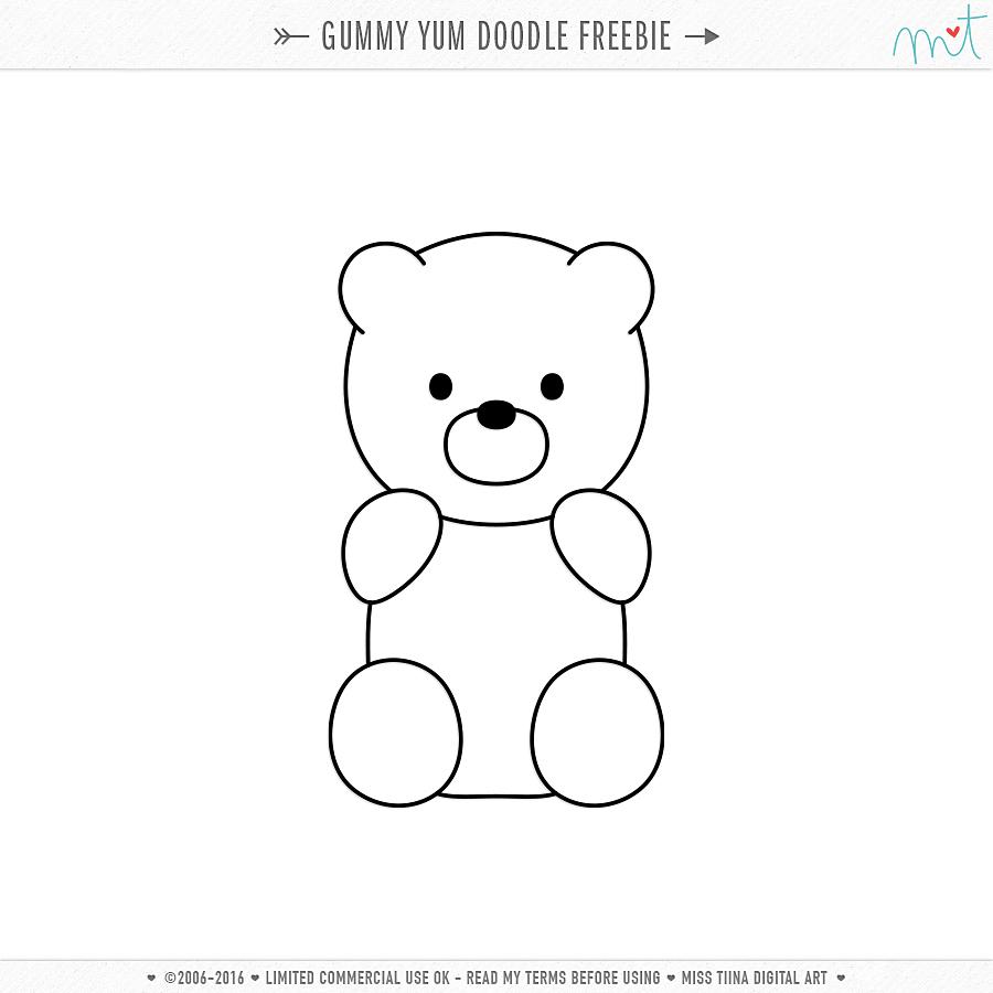 gummy bear sketch free cu gummy yum vectors doodle bear sketch gummy