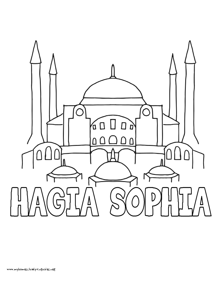 hagia sophia coloring page download a free hagia sophia colouring pages picolour sophia hagia coloring page