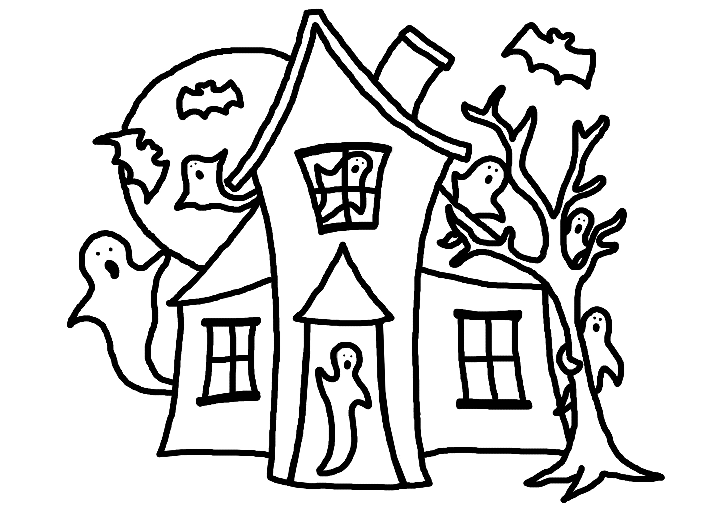 halloween coloring pages easy scary drawing pictures at getdrawings free download coloring pages halloween easy