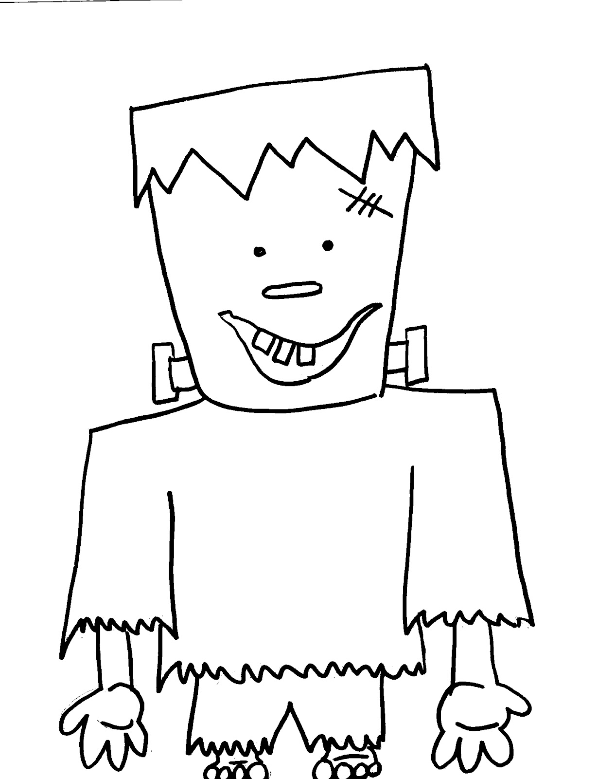 halloween coloring pages easy simple frankenstein drawing at getdrawingscom free for pages easy coloring halloween