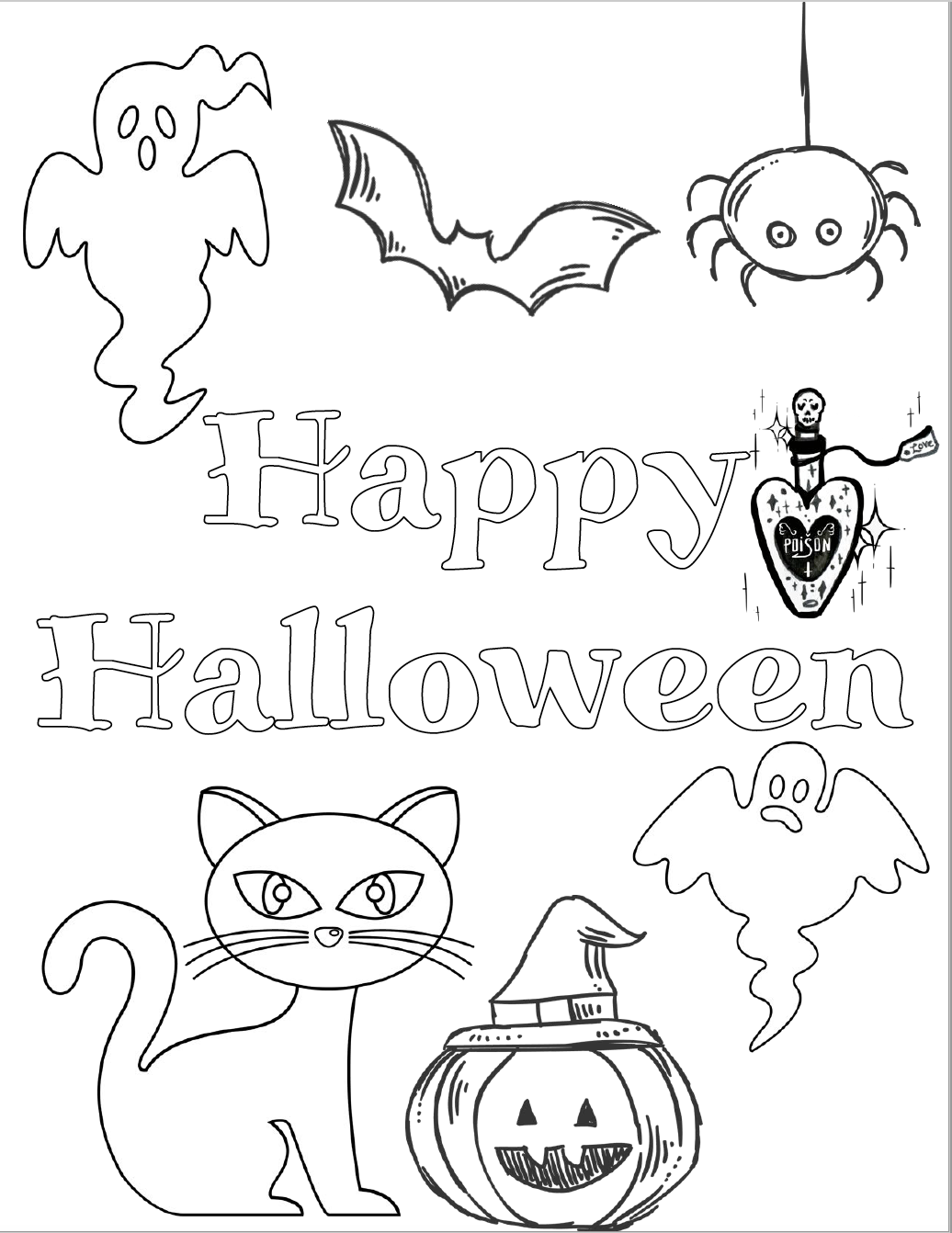 halloween coloring pages easy simple halloween coloring pages printables halloween coloring easy pages halloween