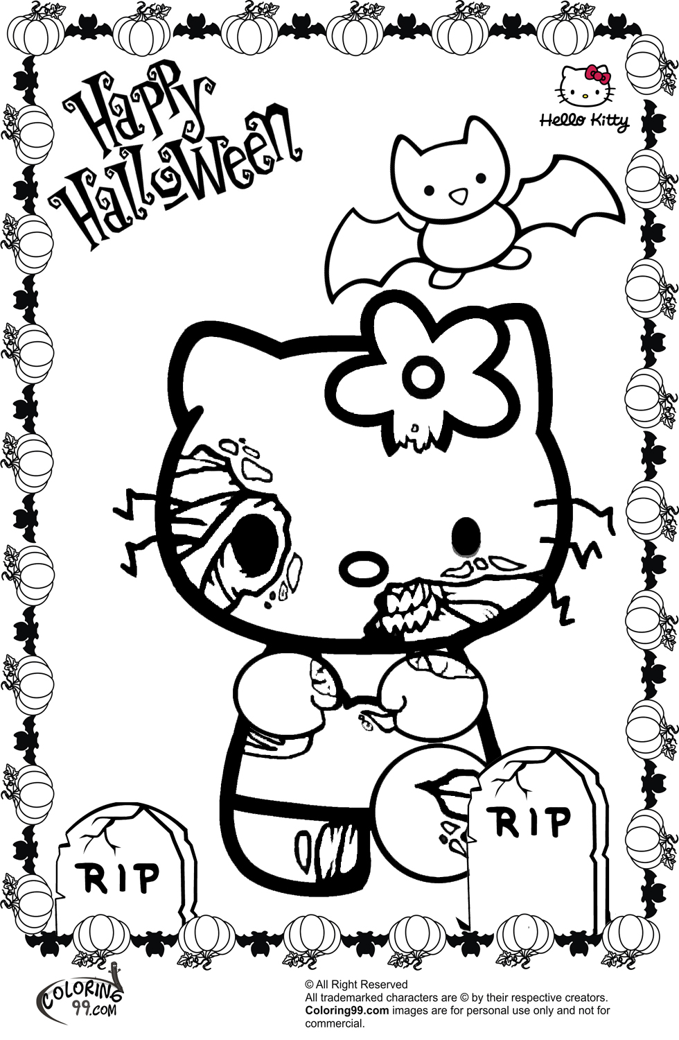 halloween coloring pages online hello kitty halloween coloring pages minister coloring online pages coloring halloween