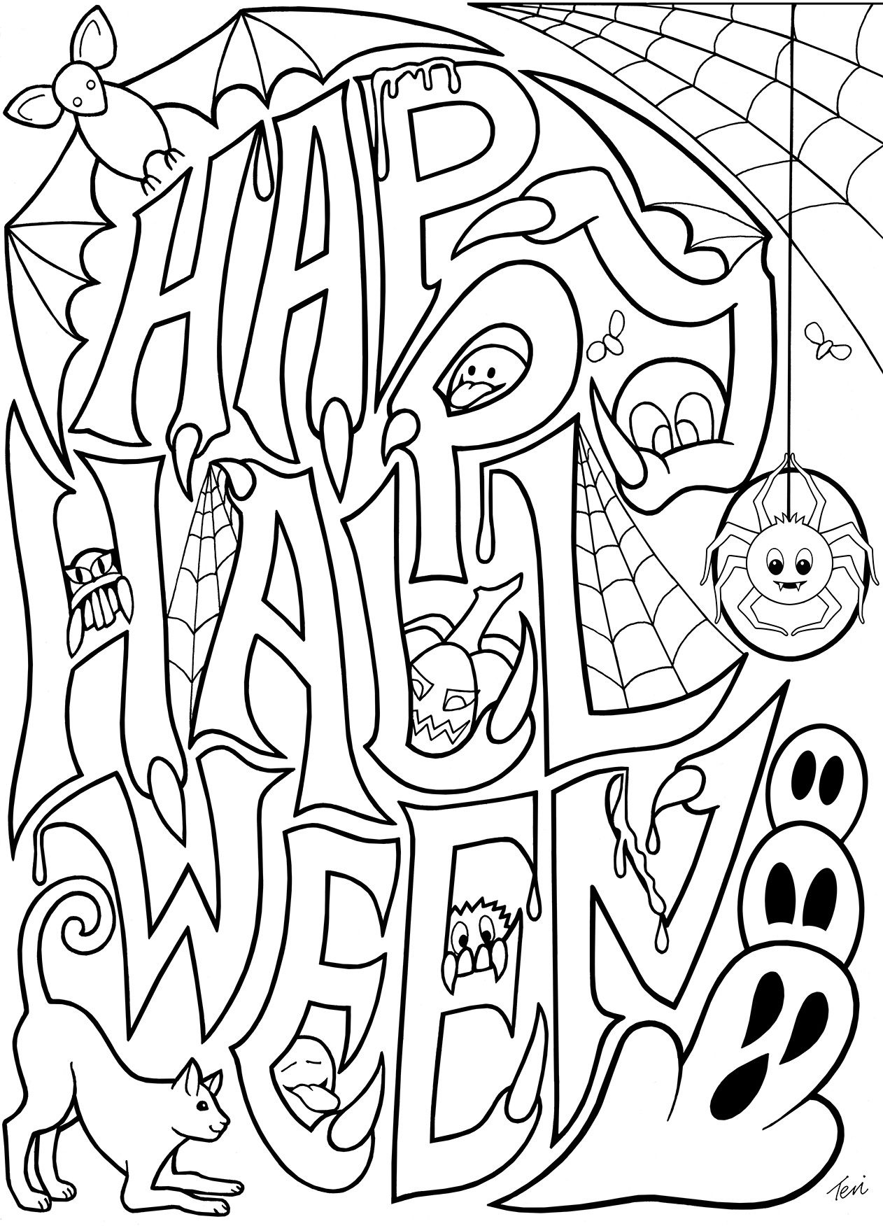halloween coloring pages online october 2013 team colors coloring halloween pages online