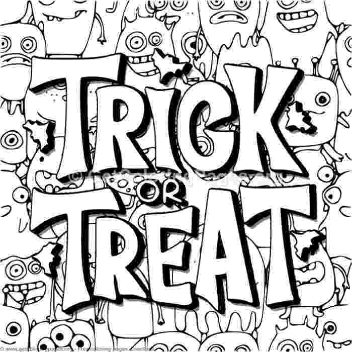 halloween coloring pages trick or treat free halloween coloring pages for adults kids or trick coloring halloween treat pages