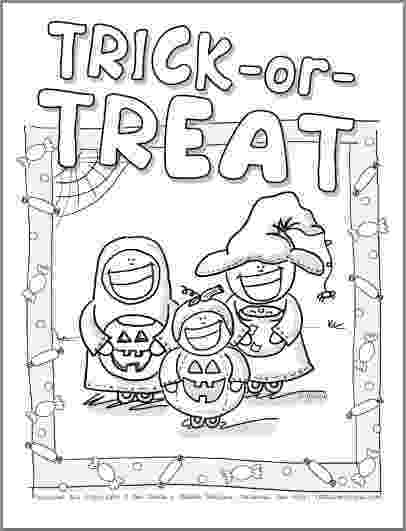 halloween coloring pages trick or treat fun free halloween coloring pages or coloring trick treat halloween pages
