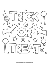 halloween coloring pages trick or treat halloween coloring pages trick or treat coloring pages or coloring treat trick pages halloween