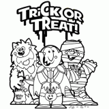 halloween coloring pages trick or treat halloween coloring trick or treat halloween or treat coloring pages trick