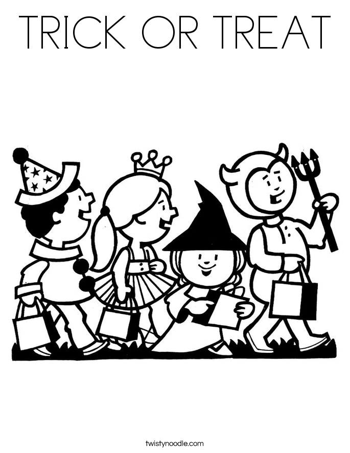halloween coloring pages trick or treat halloween trick or treat coloring pages getcoloringpagesorg or coloring pages trick halloween treat