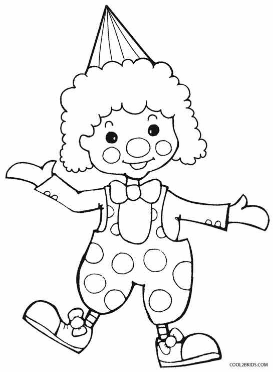happy clown coloring pages 35ο Δημοτικό σχολείο Αποκριάτικες ζωγραφιές coloring happy clown pages