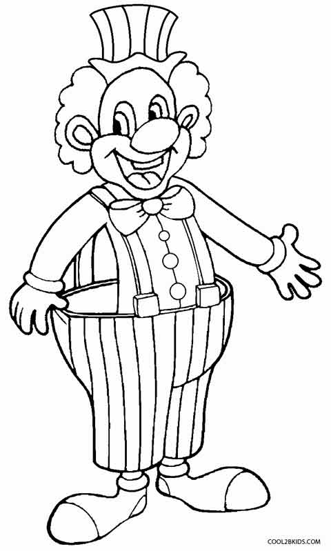 happy clown coloring pages clown coloring pages 360coloringpages happy clown pages coloring