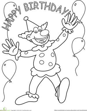 happy clown coloring pages happy clown walking with little umbrella coloring page happy coloring clown pages