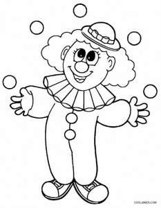 happy clown coloring pages printable clown coloring pages for kids cool2bkids coloring clown happy pages