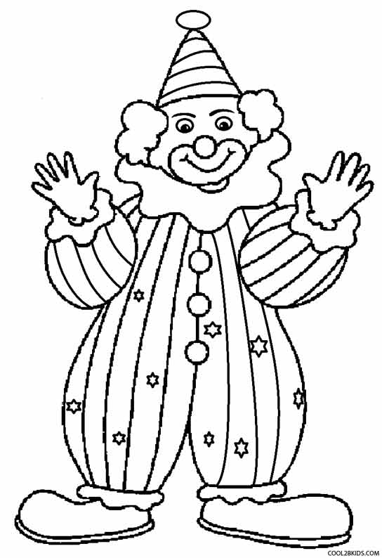 happy clown coloring pages printable clown coloring pages for kids cool2bkids coloring happy clown pages