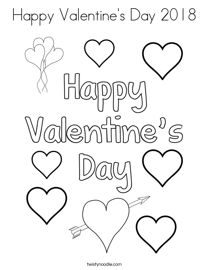 happy valentines day coloring pages happy valentine39s day 2018 coloring page twisty noodle happy coloring valentines pages day