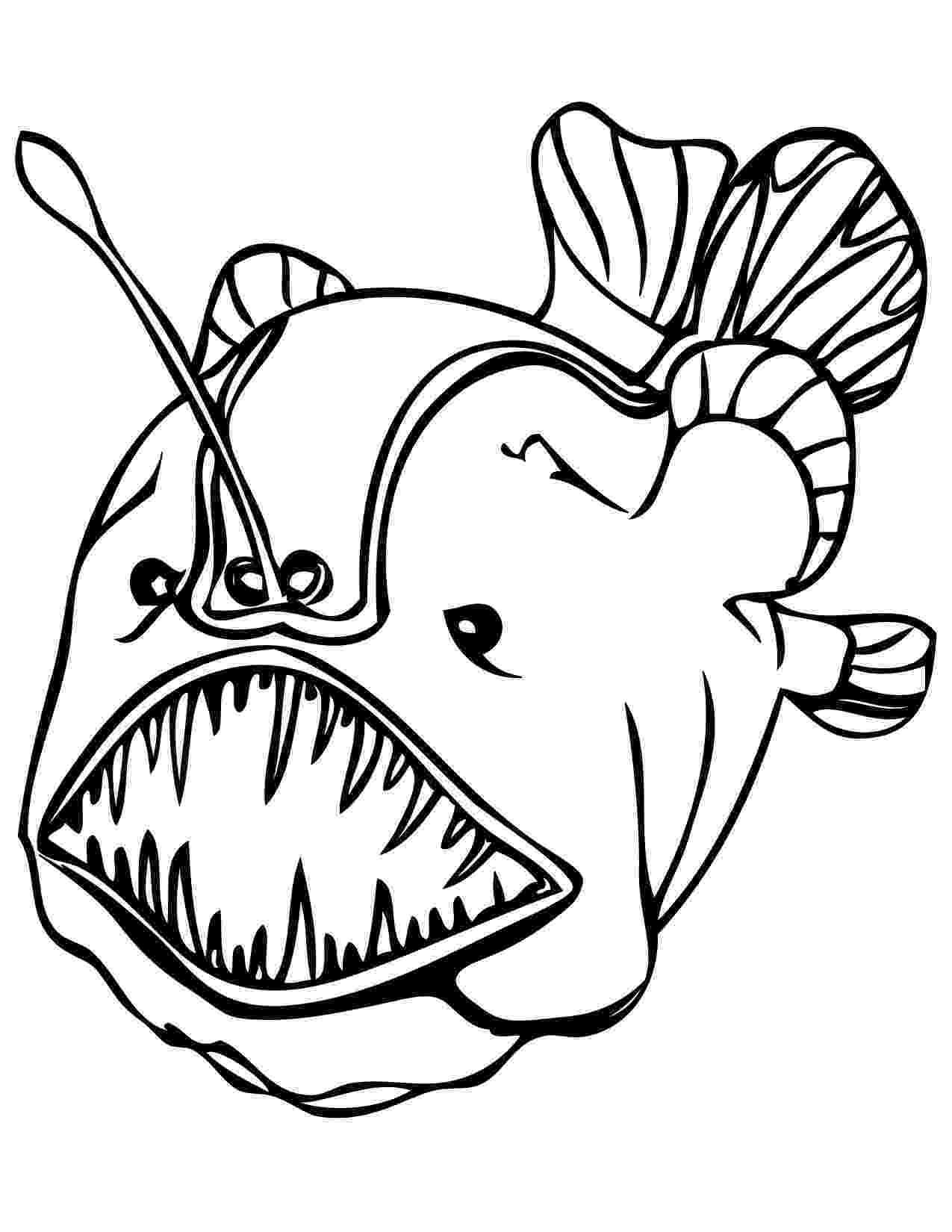 hard fish coloring pages coloring pages for adults ocean world seahorse hard coloring fish pages