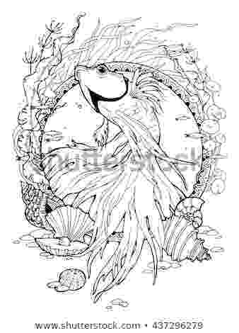 hard fish coloring pages hand drawn colorful dragon tattoo coloring เวกเตอรสตอก coloring fish hard pages