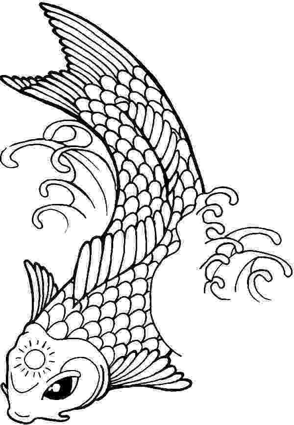 hard fish coloring pages koi fish coloring page at getcoloringscom free coloring hard fish pages
