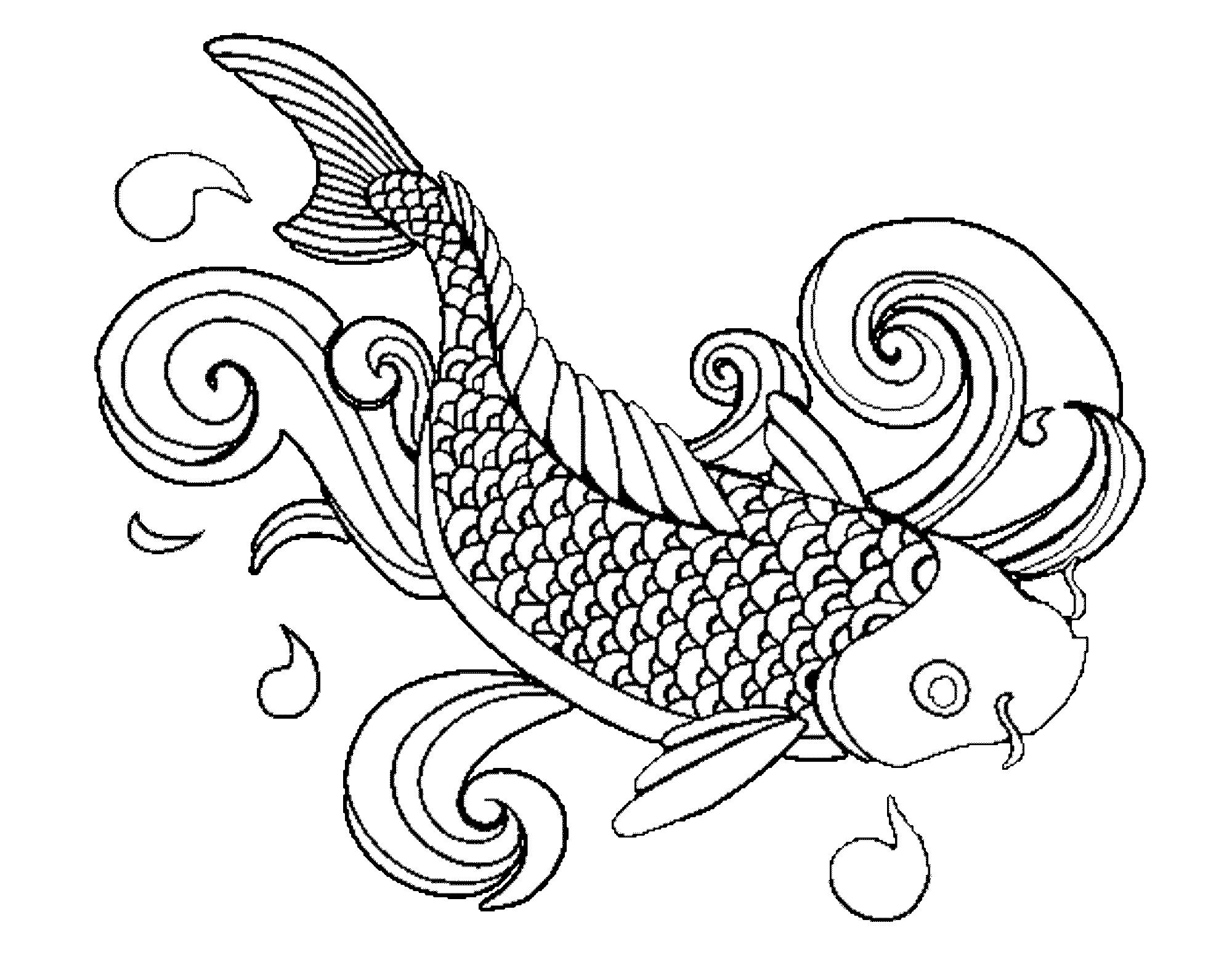 hard fish coloring pages koi hard coloring pages print coloring fish pages hard coloring