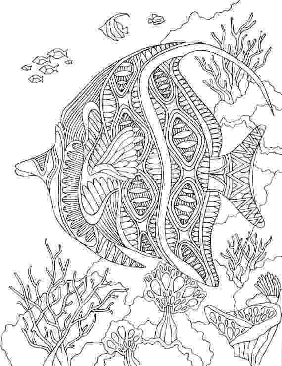 hard fish coloring pages printable coloring pages adults ocean kids sheets coloring fish pages hard