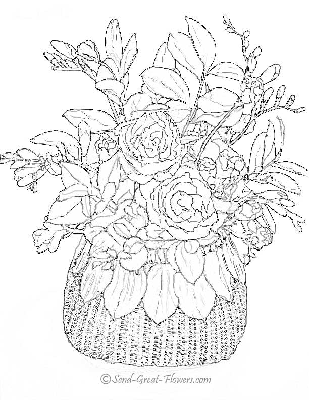 hard flower coloring pages advanced flower coloring pages flower coloring page pages hard coloring flower