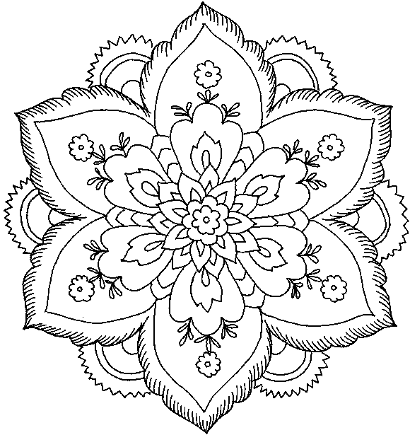 hard flower coloring pages ausmalbilder für kinder malvorlagen und malbuch hard coloring pages hard flower